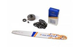 Schiene 50 cm + Kette 72 Glieder 3/8 1,6 mm + Kettenrad Stihl MS360